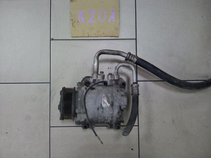 Компрессор кондиционера Honda Stream RN3 K20A 2002 передний