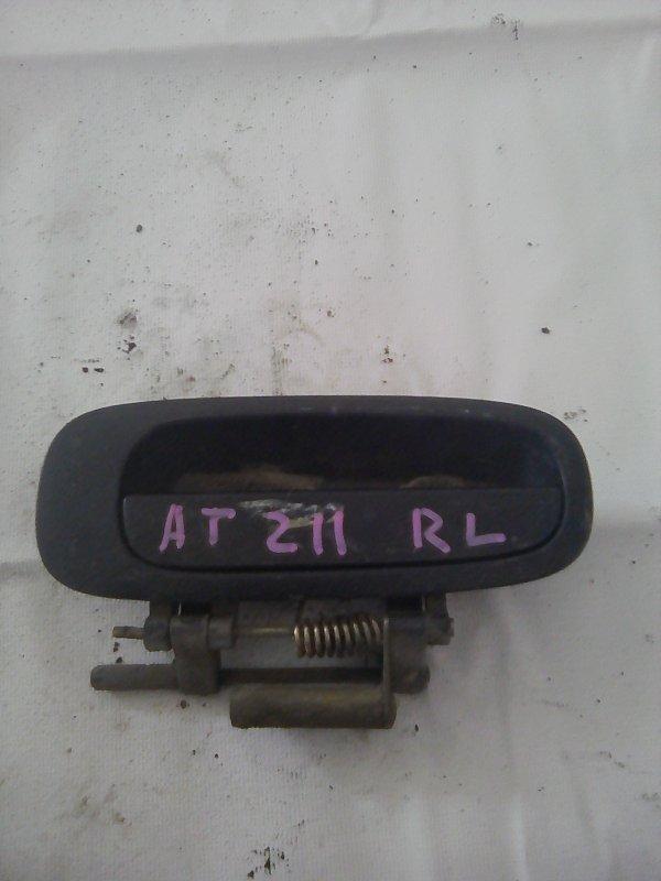 Ручка двери внешняя Toyota Carina AT211 7AFE 2001 задняя левая