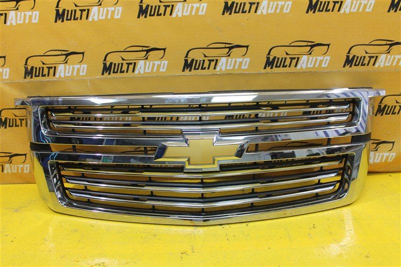 Решетка радиатора Chevrolet Tahoe 4 2014 передняя верхняя
