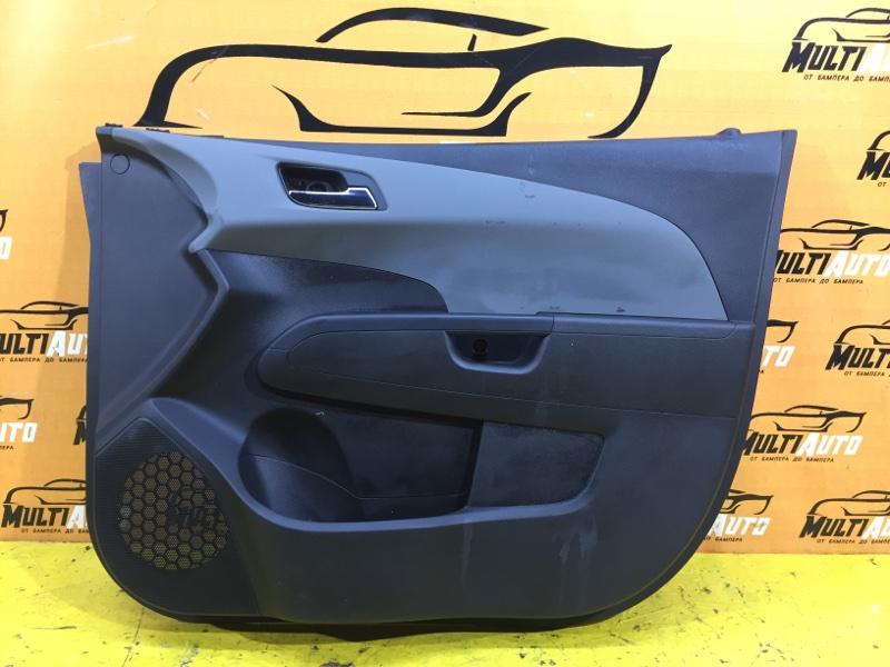 Обшивка двери Chevrolet Aveo T300 передняя правая
