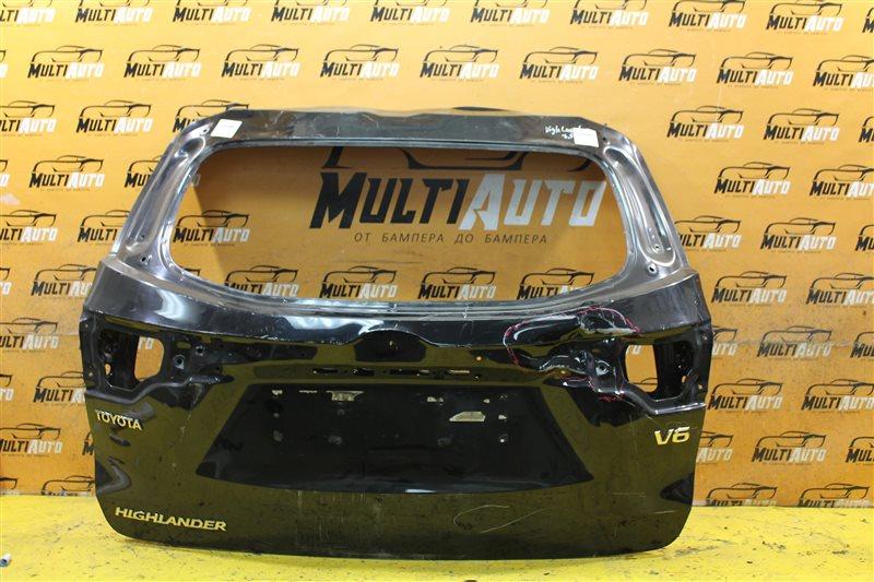 Крышка багажника Toyota Highlander 3 XU50 2013 задняя