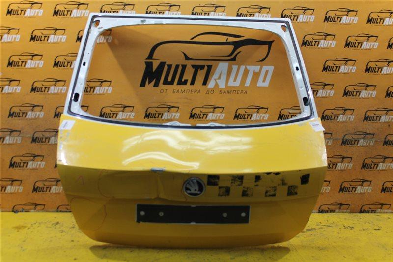 Крышка багажника Skoda Rapid 2012 задняя
