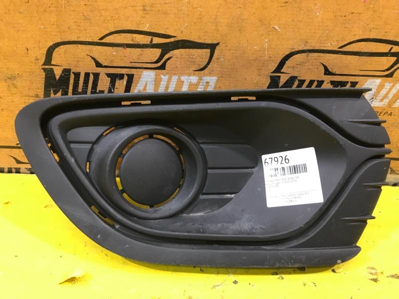 Накладка бампера Renault Logan 2 2013 передняя левая