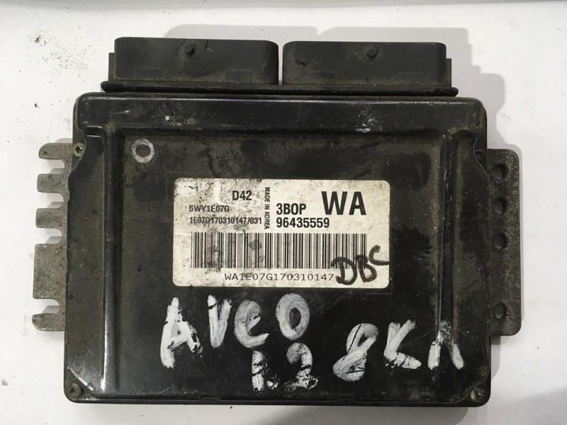 Блок управления двигателем Chevrolet Aveo 1 2003