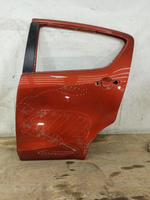 Дверь Suzuki Splash 1 2008 задняя левая
