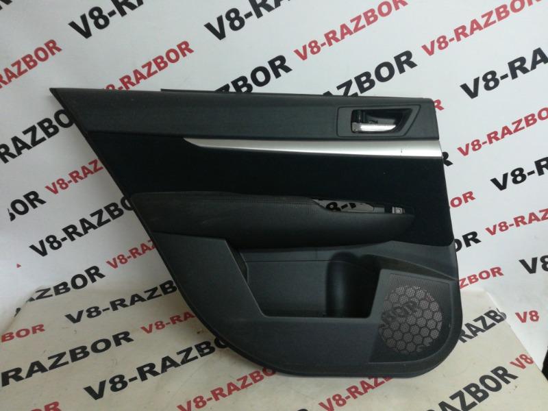 Обшивка двери Subaru Outback BR9 EJ253 2010 задняя левая