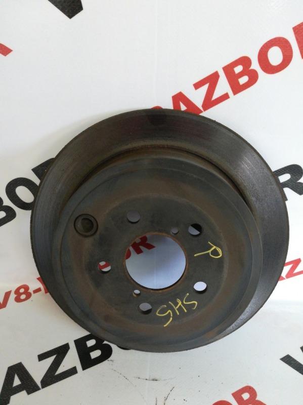 Тормозной диск Subaru Forester SH5 EJ204 2008 задний