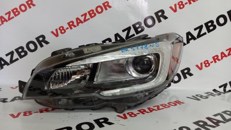 Фара Subaru Impreza Wrx VA 20F 2015 передняя левая