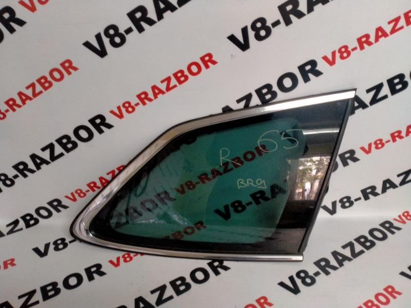 Стекло собачника Subaru Outback BR9 EJ253 2010 заднее правое