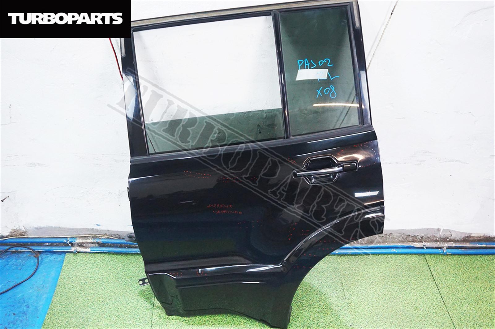 Дверь Mitsubishi Pajero V75W 6G74 2004 задняя левая (б/у)