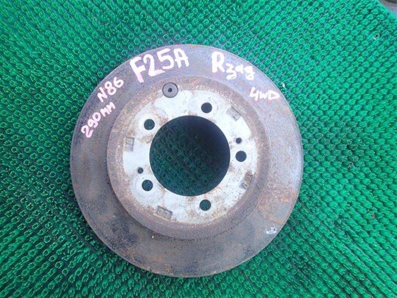 Тормозной диск Mitsubishi Diamante F25A задний правый (б/у)