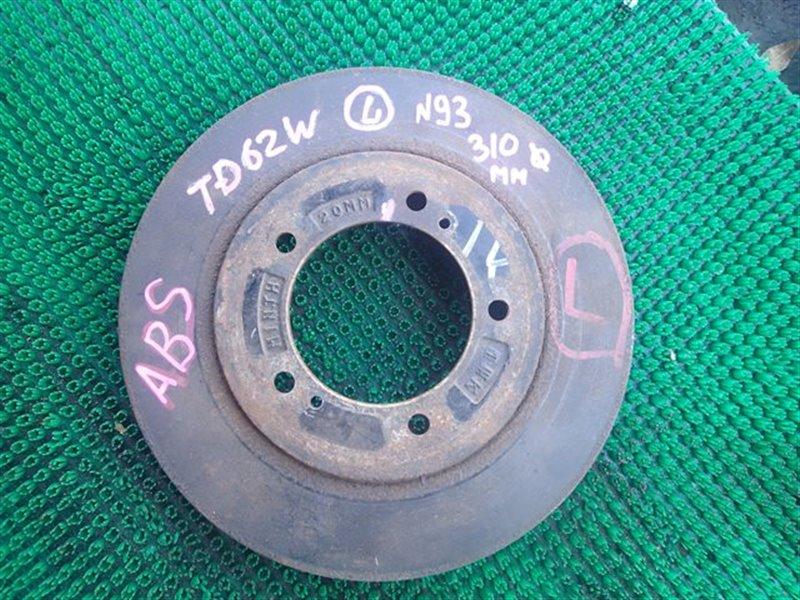 Тормозной диск Suzuki Escudo TD62W H25A передний левый (б/у)