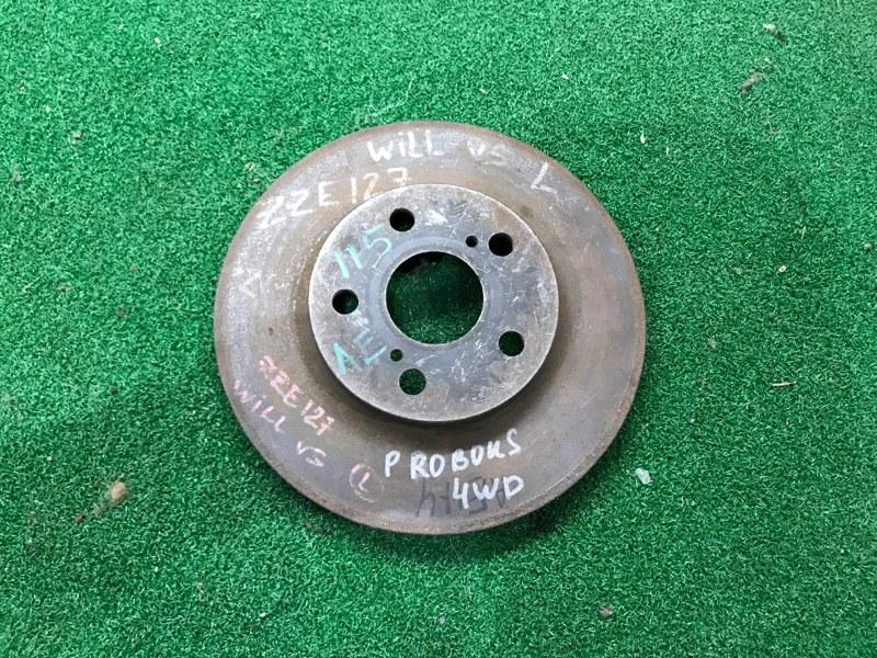 Тормозной диск Toyota Will Vs ZZE127 передний (б/у)
