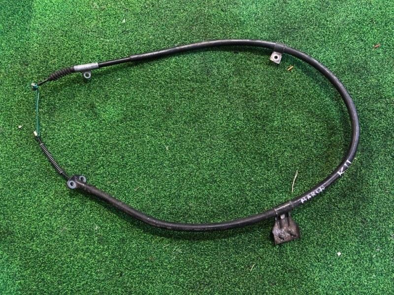 Тросик ручника Nissan March K11 задний левый (б/у)
