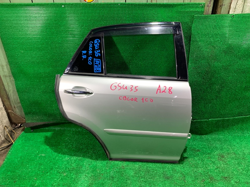 Дверь Toyota Harrier GSU35 2GR-FE 2007 задняя правая (б/у)