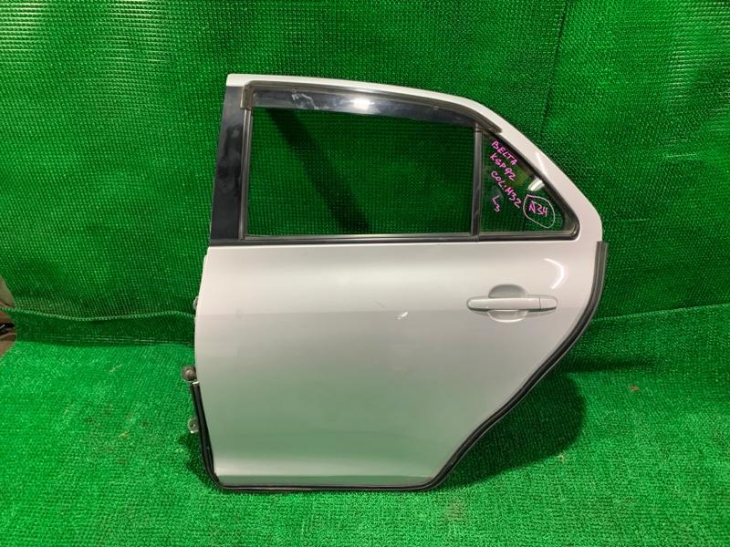 Дверь Toyota Belta KSP92 1KR-FE задняя левая (б/у)