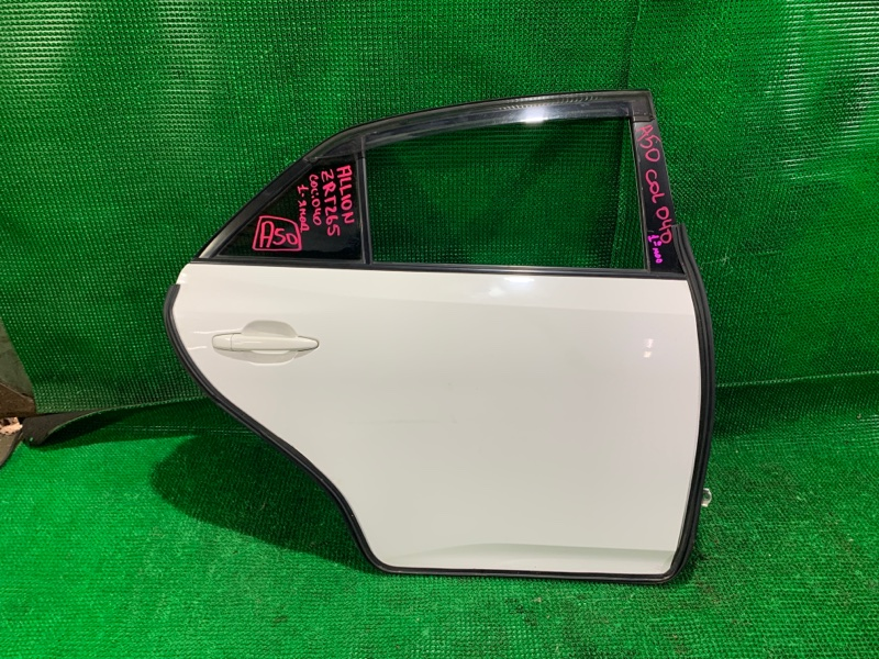 Дверь Toyota Allion ZRT265 2ZR-FE 2008 задняя правая (б/у)