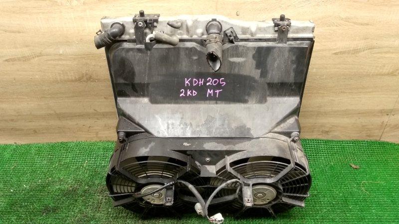 Радиатор Toyota Hiace KDH205 2KD-FTV (б/у)