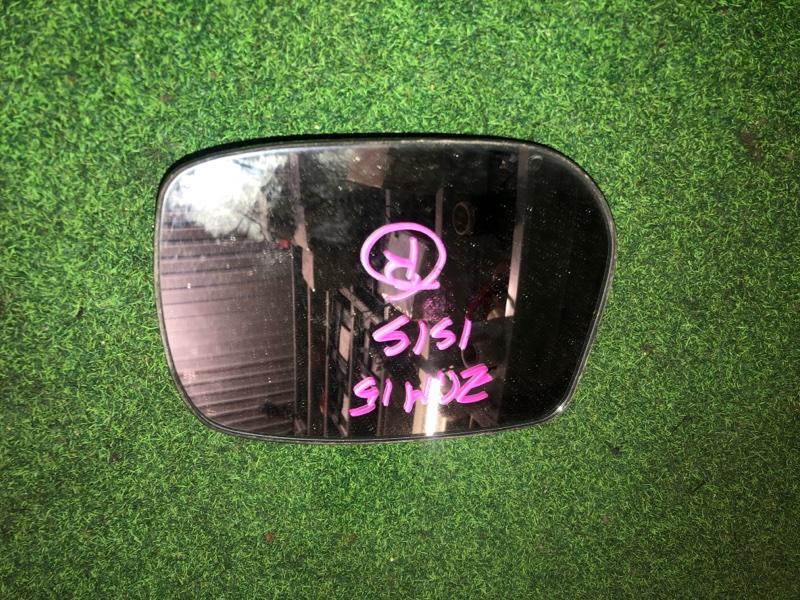 Зеркало-полотно Toyota Isis ZGM15 правое (б/у)