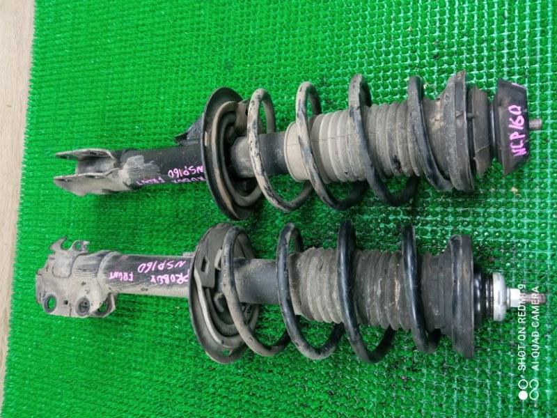 Стойка подвески Toyota Probox NSP160 1NR передняя (б/у)