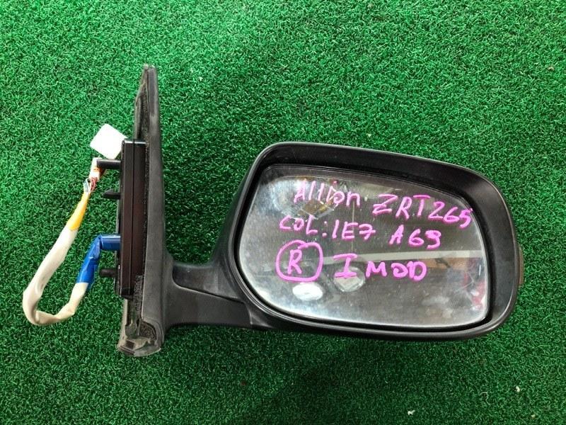 Зеркало Toyota Allion ZRT265 правое (б/у)