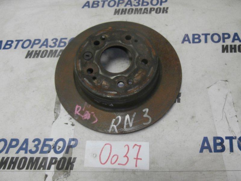 Диск тормозной задний Honda Stream RN4 D17A2 задний (б/у)