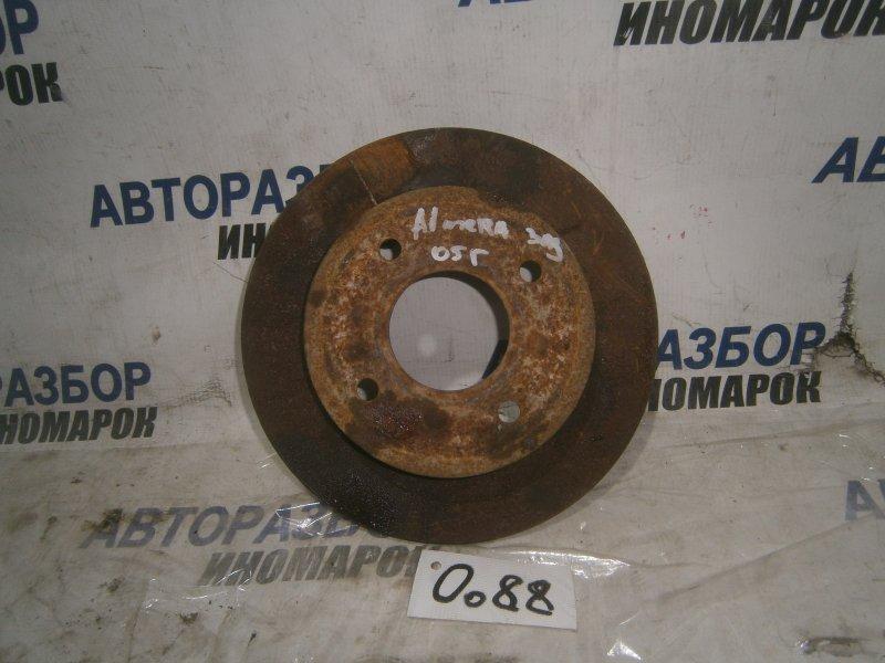 Диск тормозной задний Nissan Almera N16 задний (б/у)