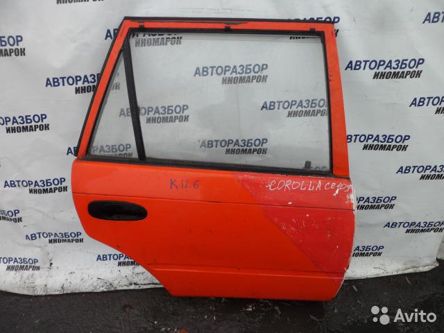 Дверь задняя левая Toyota Corolla AE100 задняя правая (б/у)