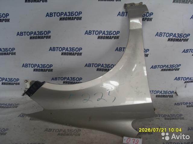 Крыло переднее правое Honda Fit Aria GD6 переднее правое (б/у)