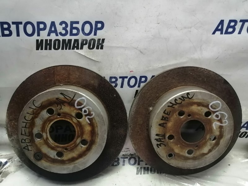 Диск тормозной задний Toyota Avensis ADT250 задний (б/у)