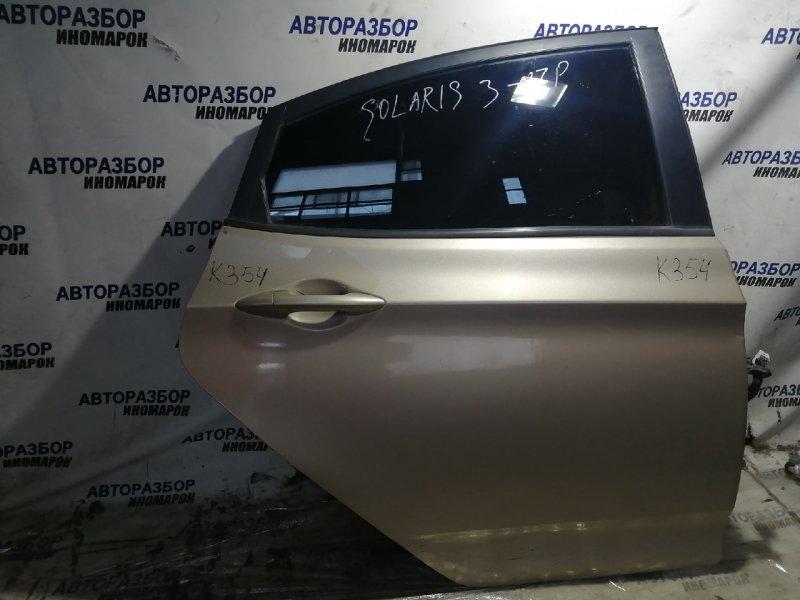 Дверь задняя правая Hyundai Solaris RB G4FA задняя правая (б/у)