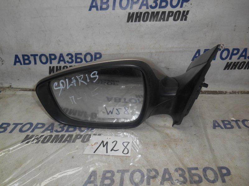 Зеркало левое Hyundai Solaris RB переднее левое (б/у)