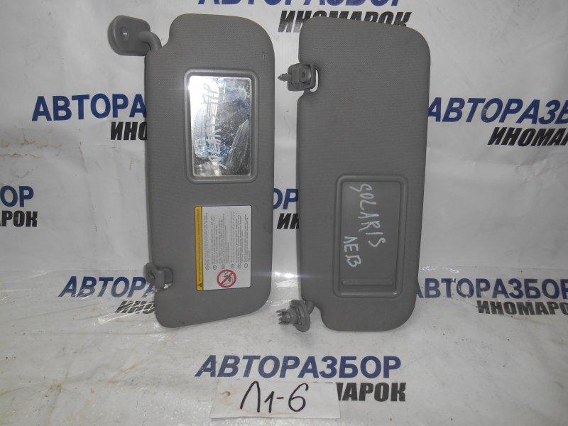 Козырек солнцезащитный Hyundai Solaris RB передний верхний (б/у)