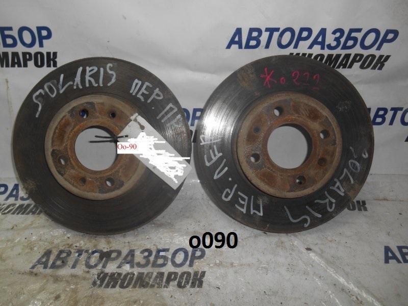 Диск тормозной передний Hyundai Solaris RB G4FA передний нижний (б/у)