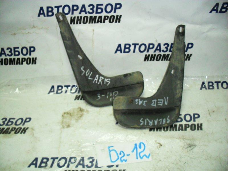 Брызговики комплект Hyundai Solaris RB G4FA задние (б/у)