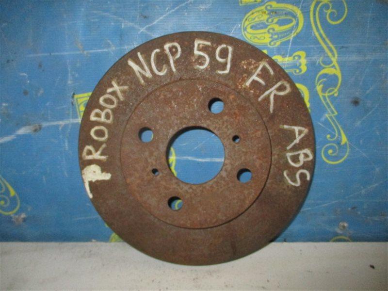 Тормозной диск Toyota Probox NCP59 передний