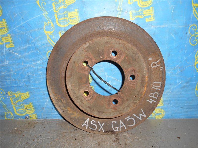Тормозной диск Mitsubishi Asx GA3W 4B10 2010 задний