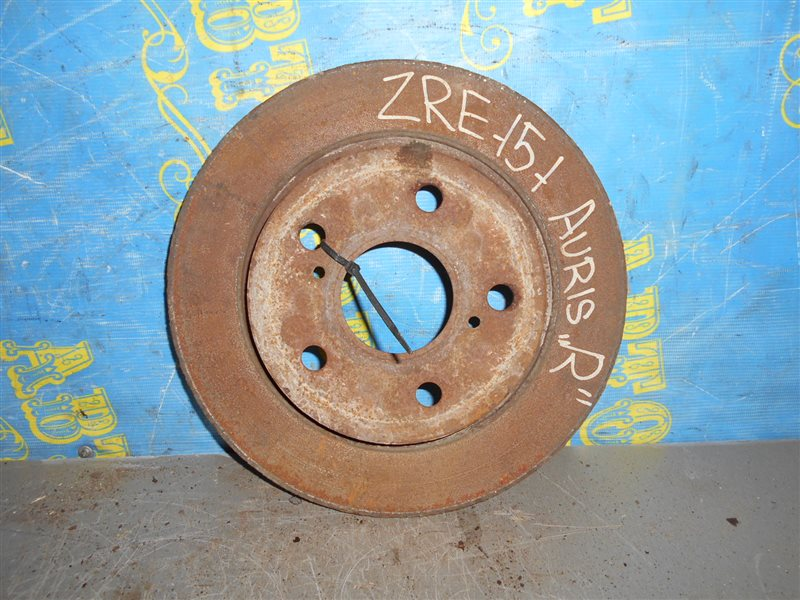 Тормозной диск Toyota Auris ZRE151L 1ZR 2008 задний
