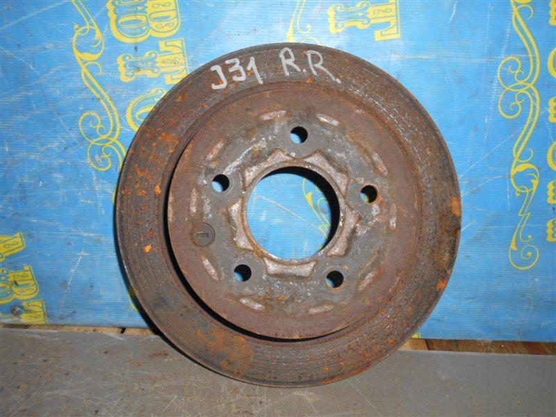 Тормозной диск Nissan Teana J31 задний