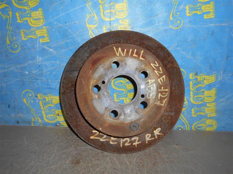 Тормозной диск Toyota Will ZZE127 1ZZ задний