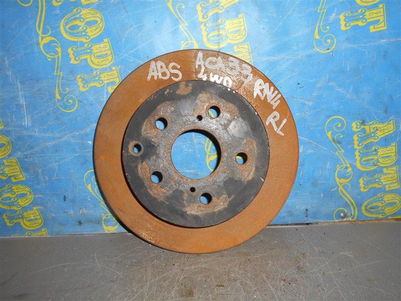 Тормозной диск Toyota Rav4 ACA33 2AZ 2008 задний