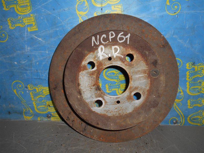 Тормозной диск Toyota Ist NCP61 задний
