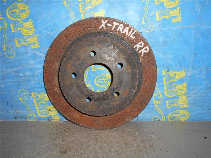 Тормозной диск Nissan Xtrail NT30 QR20 2001 задний