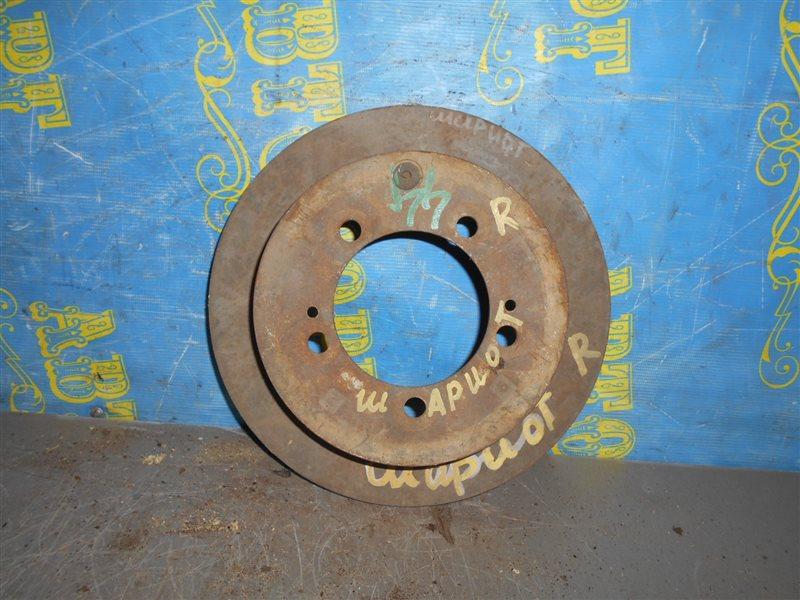 Тормозной диск Mitsubishi Chariot N44W задний