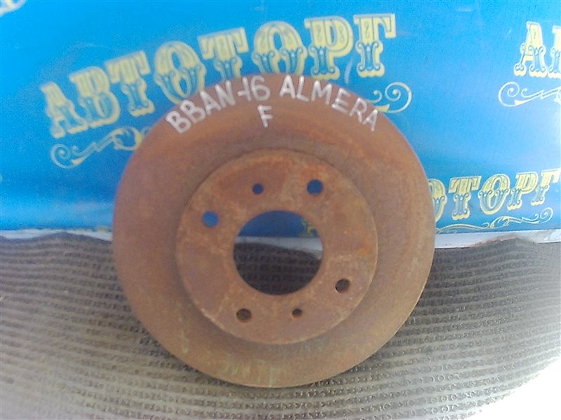 Тормозной диск Nissan Almera BBAN16 QG18 передний