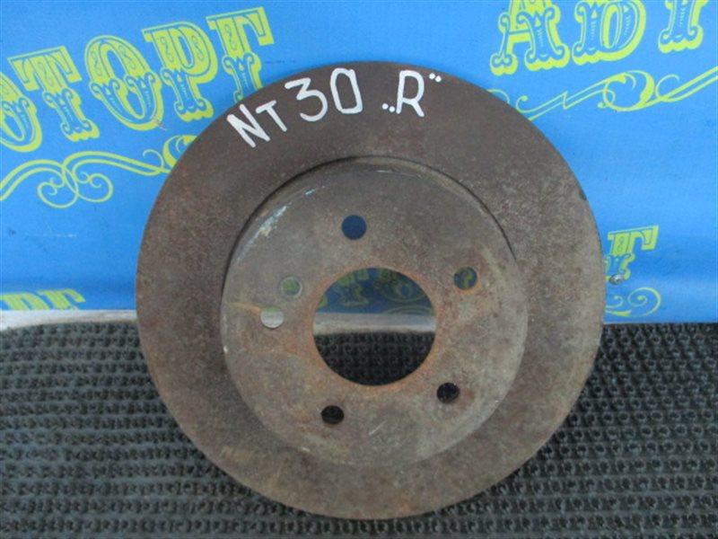 Тормозной диск Nissan Xtrail NT30 QR20 задний