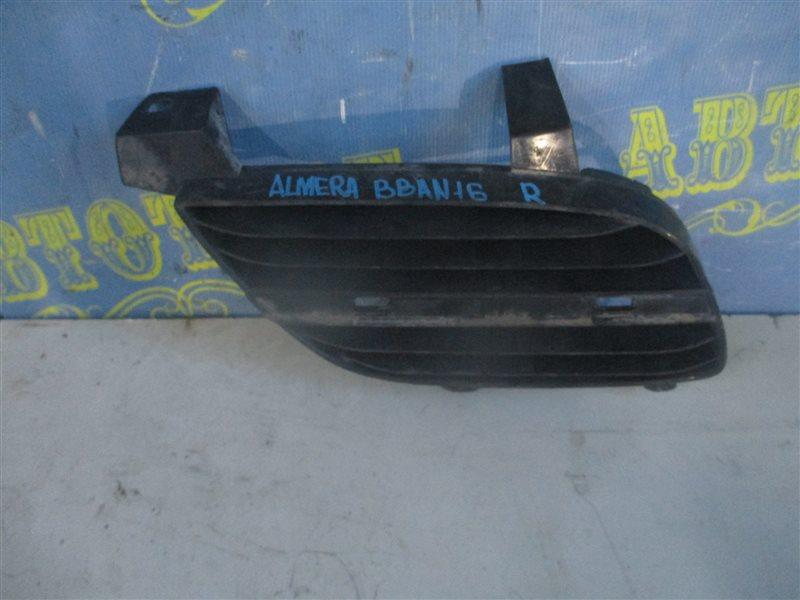 Решетка радиатора Nissan Almera BBAN16 QG18 правая