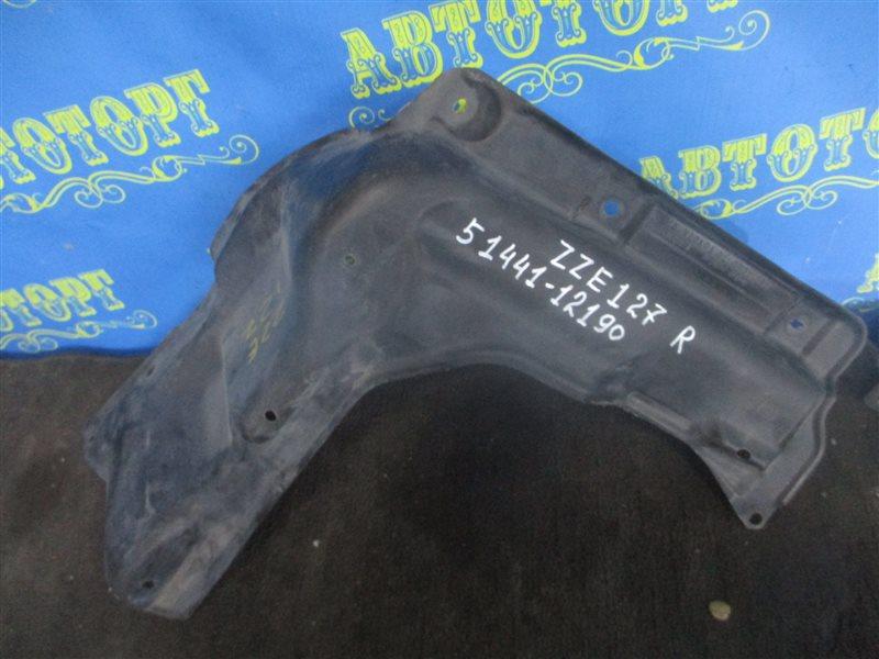 Защита двигателя Toyota Will ZZE127 1ZZ передняя правая