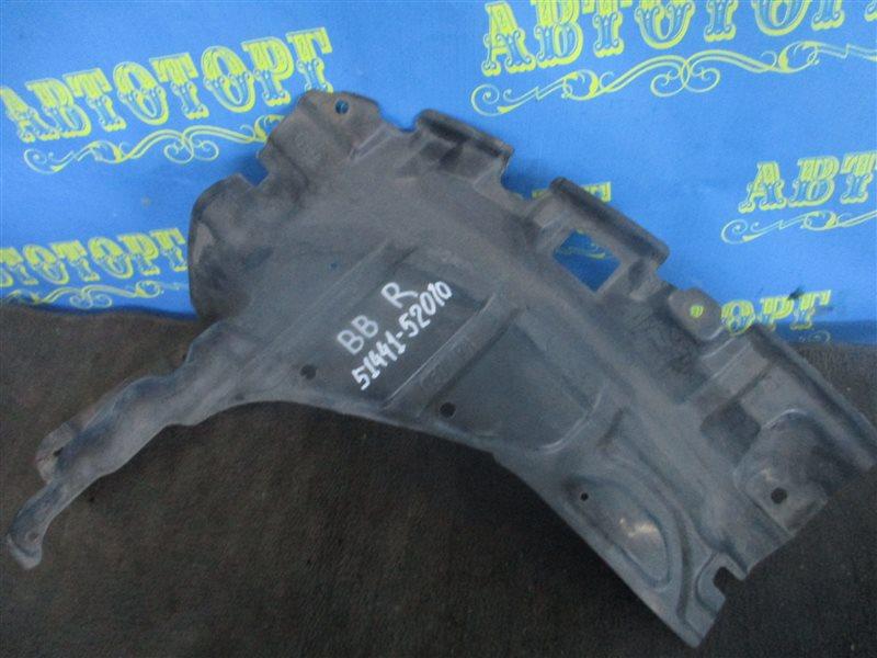 Защита двигателя Toyota Bb NCP31 1NZ передняя правая