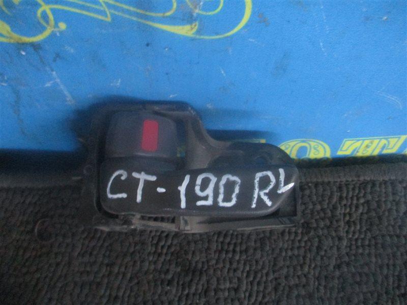 Ручка двери внутренняя Toyota Corona CT190 2C 1995 задняя левая